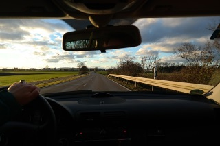 Road view while driving