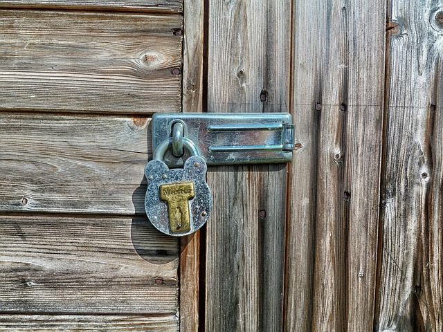 Storage Shed With Lock On Door